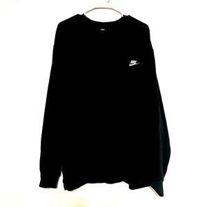 Nike Black Crew Neck Sweatshirt Pullover Left Chest Swoosh Size 3XL XXXL